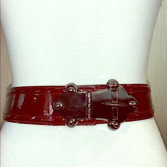 Tracy Reese adjustable patent belt